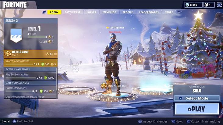 В Fortnite: Battle Royale добавили боевой пропуск