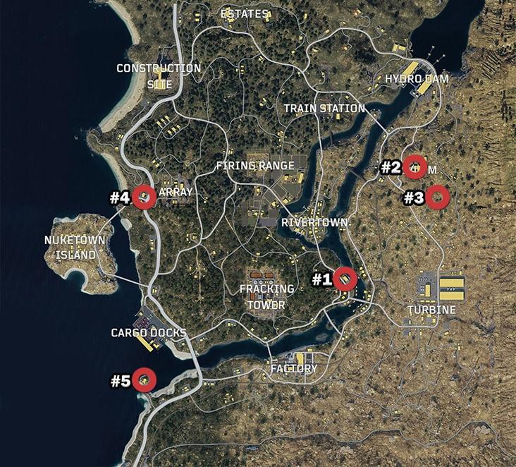 Зомби локации вCoD Black Ops 4 Blackout