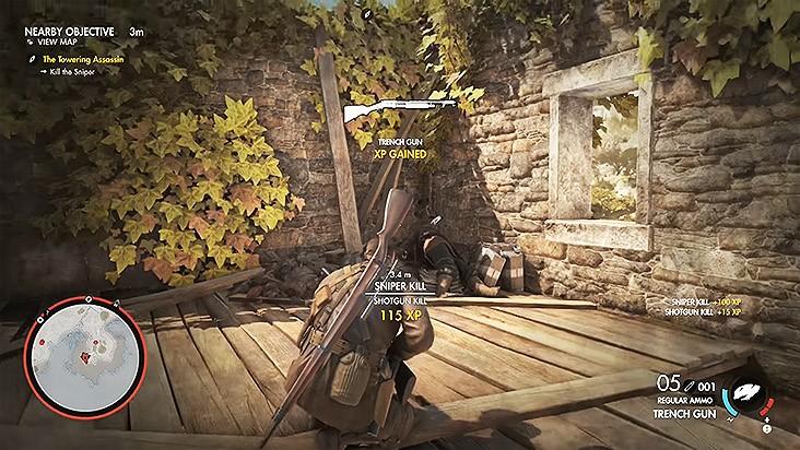 Sniper Elite 4 дробовик