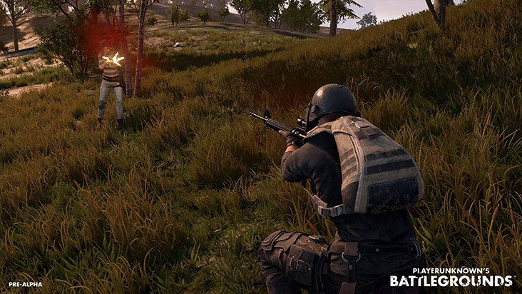Playerunknown's Battlegrounds стрельба