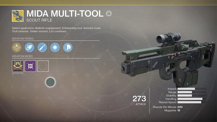 Гайд Destiny 2 — как получить винтовку MIDA Multi-Tool