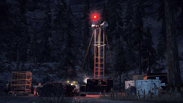расположение маяков для волков