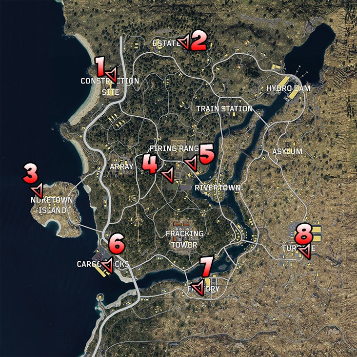 места спавна вертолетов CoD Black Ops 4 Blackout