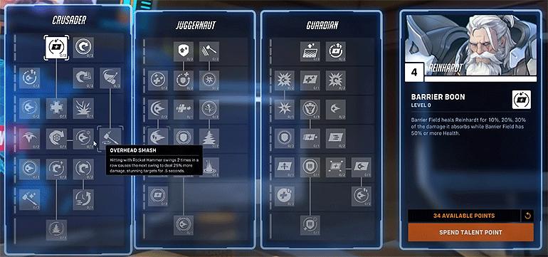 Overwatch 2 древо прокачки